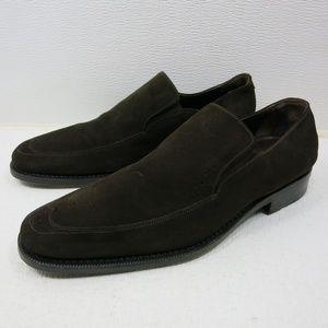 Steven Dann Suede Leather Dress Loafers Shoe 43 10